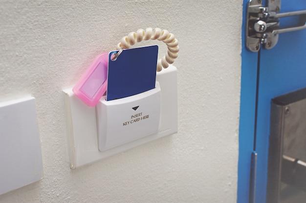 Card for door access control scanning key card to lock and unlock door.