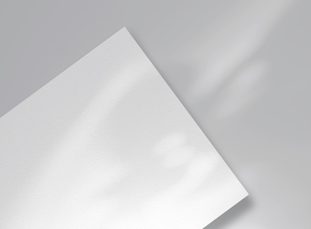 추상 그림자가 있는 카드 또는 시트 모형. 텍스트, 아이디어를 위한 공간입니다.