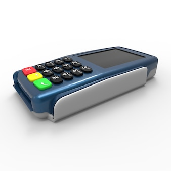 Card payment terminal. pos terminal isolated on white background