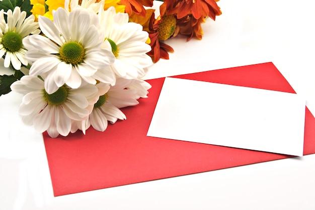 발렌타인 데이를 축하하는 꽃 카드
