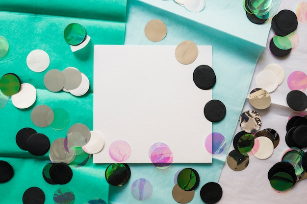 Card with golden confetti