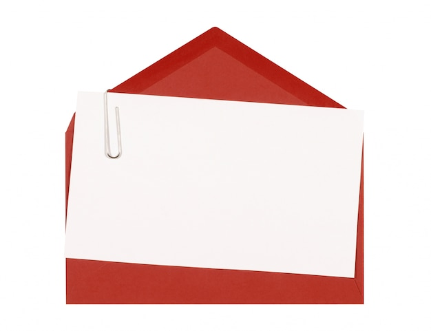 A card with a red envelope