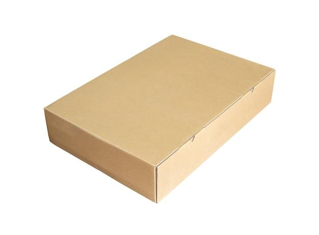 흰색 배경에 고립 된 골 판지 상자