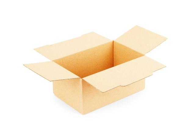 白で隔離の段ボール箱