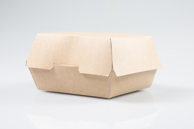 Cardboard box to slide burgers or sandwiches
