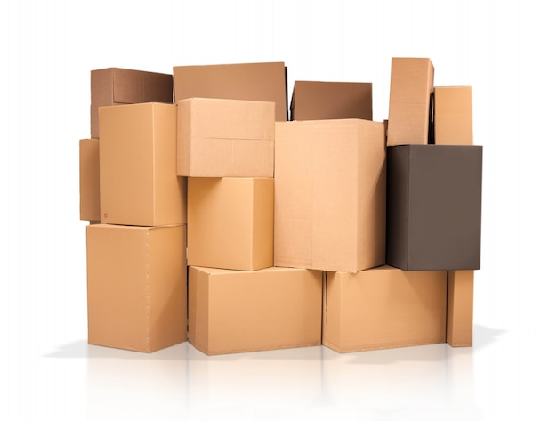 Cardboard boxes of different sizes