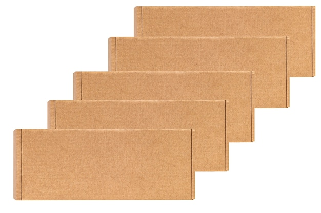 Cardboard boxes for goods on a white isolated. different size.