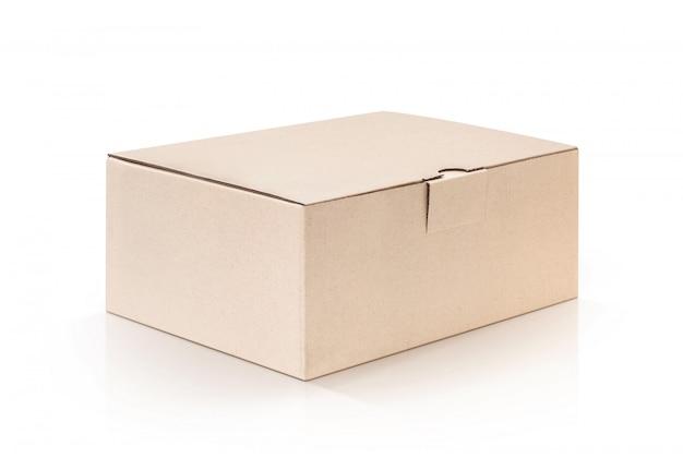 Cardboard kraft box isolated