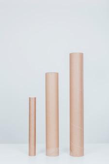 Confronto di dimensioni del tubo di cartone