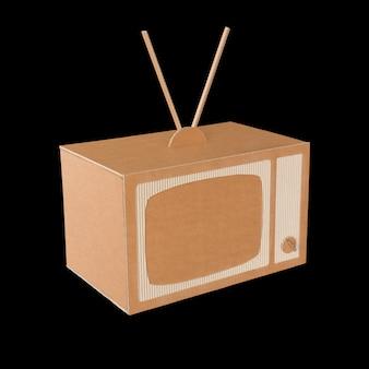 Cardboard tv.