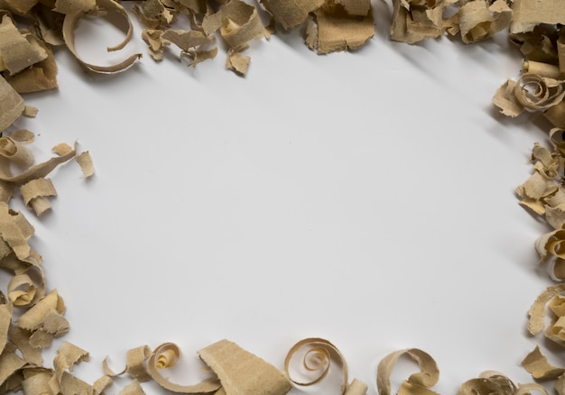 Cardbord frame on white