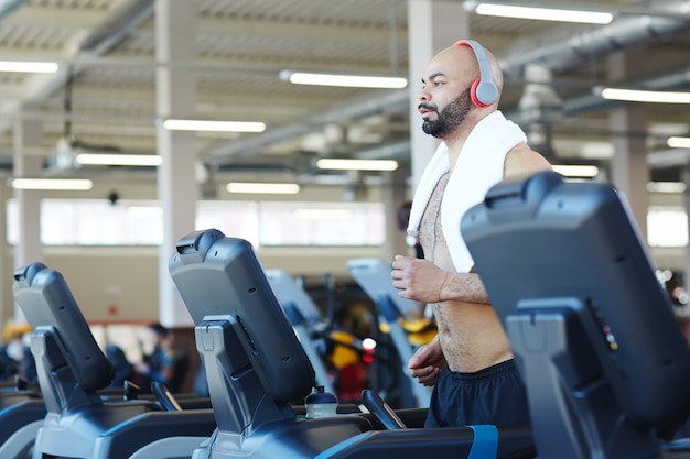 Cardio training in modern gym