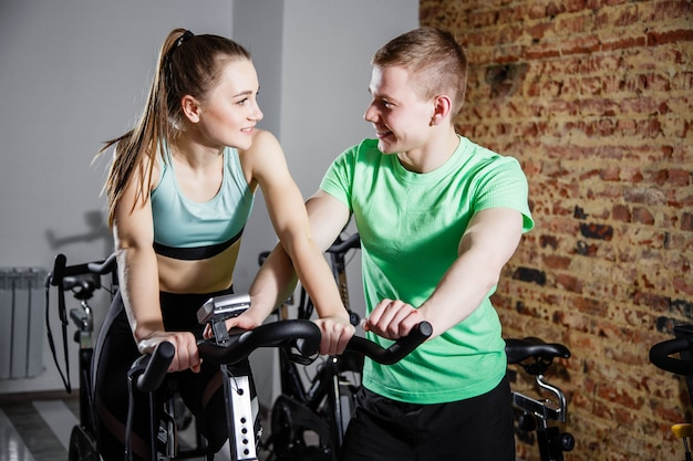 Cardio training with personal trainer