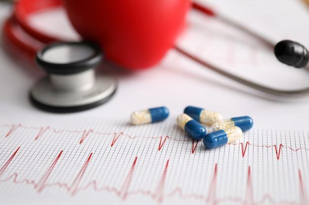 Назначение кардиограммы и посещение врача клиники.