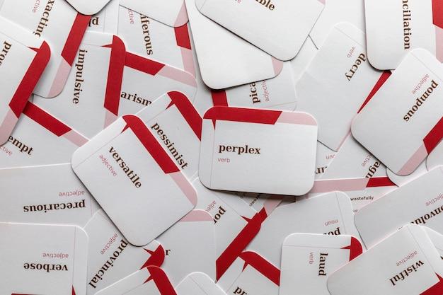 영어를 가르치고 배우기위한 카드