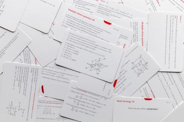 수학 교육 및 학습용 카드