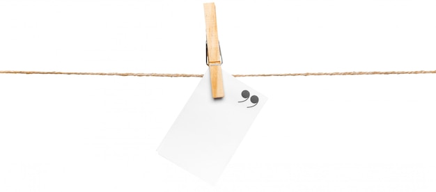 Cards on rope, copy space