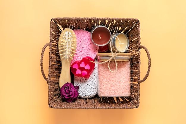 Care box set of eco-friendly cosmetics
