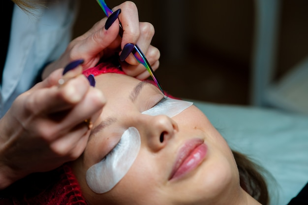 Care of eyelashes in the beauty salon