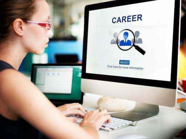 Карьера, занятость, профессия, набор рабочей концепции