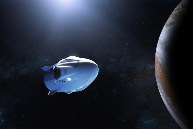 Cargo spacecraft in jupiter orbit