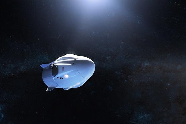Cargo spacecraft in open space