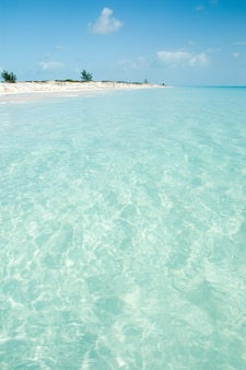 Caribbean beach with crystal-clear water