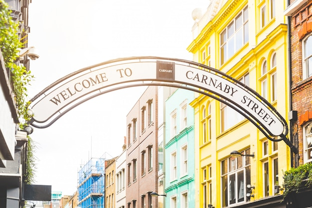 Carmaby street sign in london