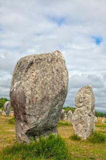 Carnac stones   hdr  cyan