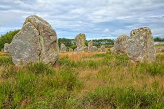 Carnac stones   hdr  mystical