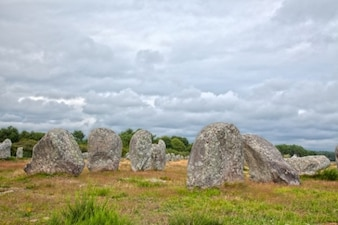 Carnac stones   hdr