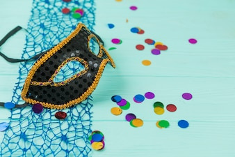 Carnival mask with decoration