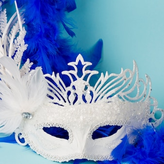Carnival mask with feathers