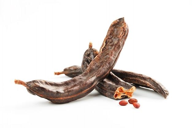 Carob fruit and seeds