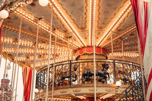 Carousel at the christmas fair