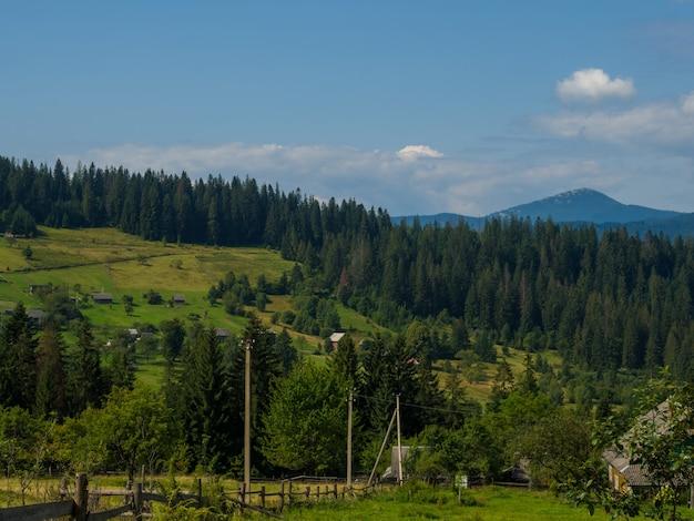 Карпатский пейзаж с пасмурным небом