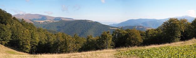 Carpathian mountains (ukraine) landscape. three shots composite picture.