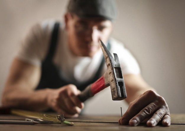 Carpenter and his tools