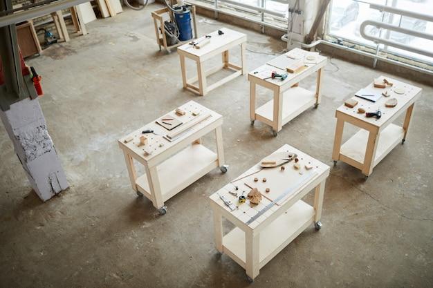 Carpenters workshop at factory