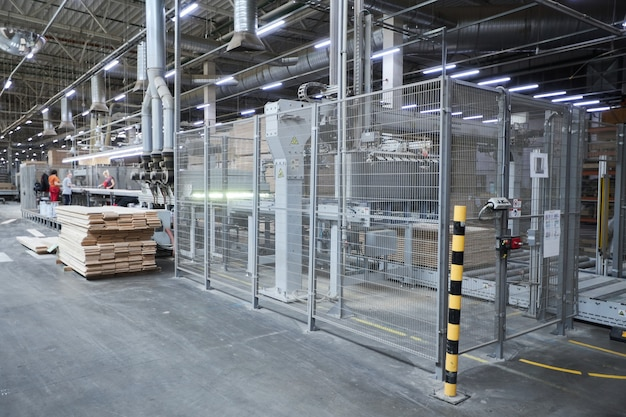 Carpentry factory with robotic equipment