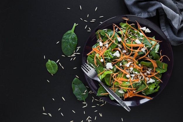 Carrot and sorrel salad