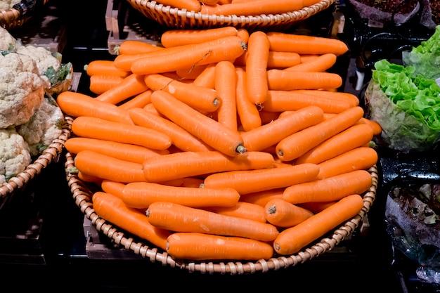 Carrot vegetable in supermarket
