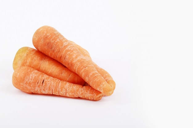 Carrot with white copy space for text