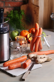 Carrots and fruit