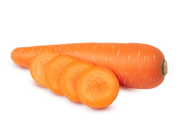 Carrots isolated on white background. with clipping path.