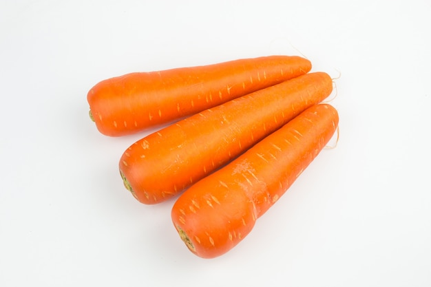 Carrots vegetable isolated on white background