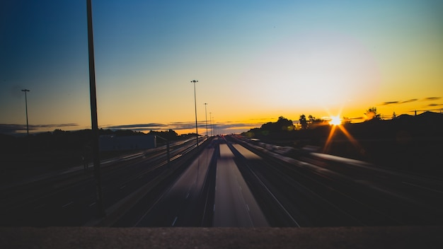 Auto pendolari al mattino presto a toronto