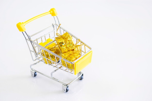 Cart gifts for new year and christmas