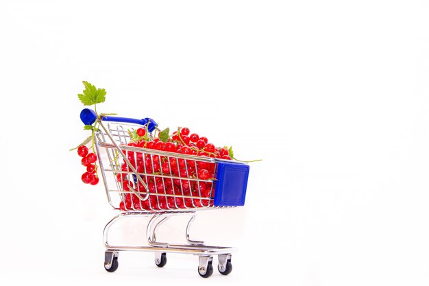 Cart with berries