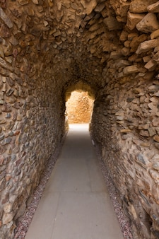 Cartagena roman amphitheater corridor in spain